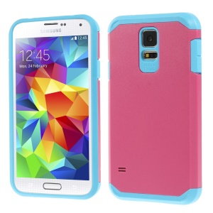 Protective Matte PC + TPU Hybrid Shell Cover for Samsung Galaxy S5 G900 - Rose