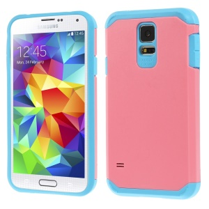 Protective Matte PC + TPU Hybrid Case Shell for Samsung Galaxy S5 G900 - Pink