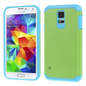 Protective Matte PC + TPU Hybrid Case Cover for Samsung Galaxy S5 G900 - Green