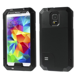 Black Redpepper Metal + Silicone Dropproof Shockproof Dustproof Case for Samsung Galaxy S5 G900