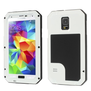 White Redpepper Metal + Silicone Dropproof Shockproof Dustproof Case for Samsung Galaxy S5 G900