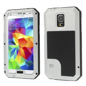 Silver Redpepper Metal + Silicone Dropproof Shockproof Dustproof Cover for Samsung Galaxy S5 G900