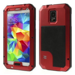 Red Redpepper Metal + Silicone Waterproof Shockproof Dustproof Cover for Samsung Galaxy S5 G900