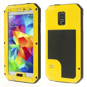 Yellow Redpepper Metal + Silicone Dropproof Shockproof Dustproof Shell for Samsung Galaxy S5 G900