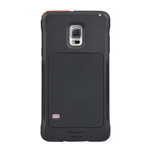 PEPKOO Dustproof Dropproof Shockproof Metal + Silicone Case for Samsung Galaxy S5 G900 - Black