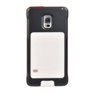 PEPKOO for Samsung Galaxy S5 G900 Dustproof Dropproof Shockproof Metal + Silicone Case - Black / White