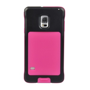PEPKOO for Samsung Galaxy S5 G900 Dustproof Dropproof Shockproof Metal + Silicone Shell - Black / Rose