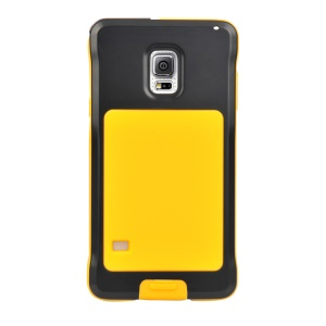 PEPKOO Dustproof Dropproof Shockproof for Samsung Galaxy S5 G900 Metal + Silicone Shell - Black / Yellow
