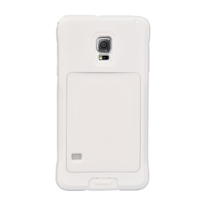 PEPKOO Dustproof Dropproof Shockproof for Samsung Galaxy S5 G900 Metal + Silicone Cover - White