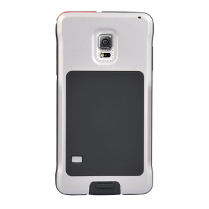 PEPKOO Dustproof Dropproof Shockproof for Samsung Galaxy S5 G900 Metal + Silicone Case - Grey / Black