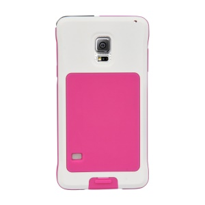 PEPKOO Dustproof Dropproof Shockproof Metal + Silicone Case for Samsung Galaxy S5 G900 - White / Rose