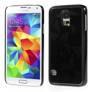 Water Cube Pattern for Samsung Galaxy S5 G900 Electroplating Metal Hard Case - Black