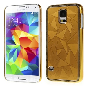 Water Cube Pattern Plating Metal Hard Protector Cover for Samsung Galaxy S5 G900 - Gold