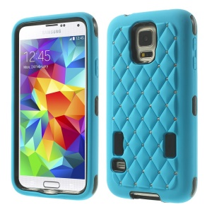 Starry Sky Rhinestone PC + Silicone Combo Cover for Samsung Galaxy S5 G900 - Blue