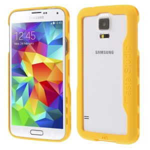 iTaste Studio Plastic Bumper Backless Case for Samsung Galaxy S5 G900 - Yellow