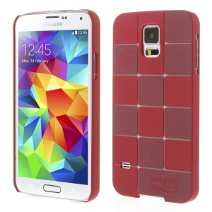 Check Pattern Slim PC Hard Case for Samsung Galaxy S5 G900 - Red