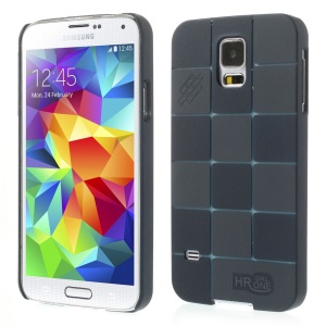 Check Pattern Slim Plastic Cover for Samsung Galaxy S5 G900 - Deep Blue