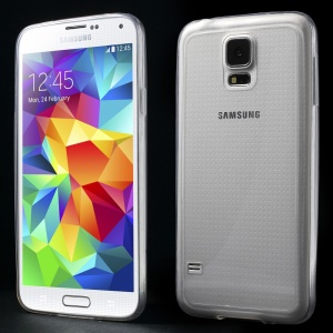 0.6mm Ultrathin Clear Acrylic + Soft TPU Hybrid Case for Samsung Galaxy S5 G900 - Transparent