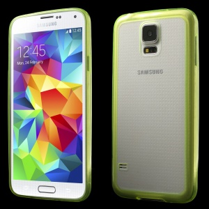 0.6mm Ultrathin Clear Acrylic + Soft TPU Combo Case for Samsung Galaxy S5 G900 - Yellow