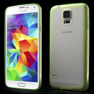 0.6mm Ultrathin Clear Acrylic + Soft TPU Combo Cover for Samsung Galaxy S5 G900 - Green