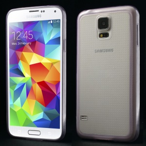 0.6mm Ultrathin Clear Acrylic + TPU Protector Cover for Samsung Galaxy S5 G900 - Purple
