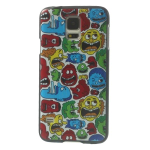 Colorful Men Heads Plastic Hard Phone Case for Samsung Galaxy S5 G900