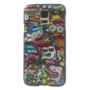 Exaggerated Characters Graffiti Plastic Cover Case for Samsung Galaxy S5 G900
