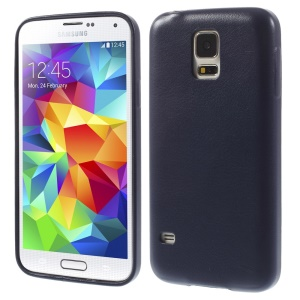 K-cool Lychee Leather Coated Hard Cover for Samsung Galaxy S5 G900 - Dark Blue