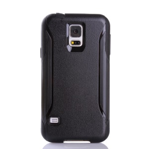 Shockproof Dirt-proof PC + TPU Hybrid Protector Case for Samsung Galaxy S5 G900 - Black