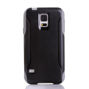 Shockproof Dirt-proof PC + TPU Hybrid Protector Shell for Samsung Galaxy S5 G900 - Black / Grey