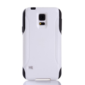Hybrid PC + TPU Shockproof Dirt-proof Protection Case for Samsung Galaxy S5 G900 - White / Black