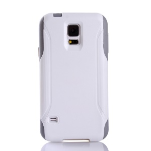 Hybrid PC + TPU Shockproof Dirt-proof Case Accessory for Samsung Galaxy S5 G900 - White / Grey