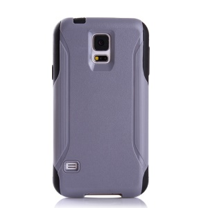 Shockproof Dirt-proof PC + TPU Hybrid Back Cover for Samsung Galaxy S5 G900 - Grey / Black