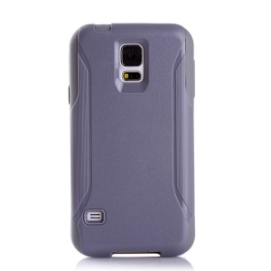 Shockproof Dirt-proof PC + TPU Hybrid Phone Cover for Samsung Galaxy S5 G900 - Grey