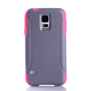 Shockproof Dirt-proof PC + TPU Combo Protector Case for Samsung Galaxy S5 G900 - Grey / Rose