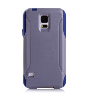 Shockproof Dirt-proof PC + TPU Combo Protector Shell for Samsung Galaxy S5 G900 - Grey / Blue