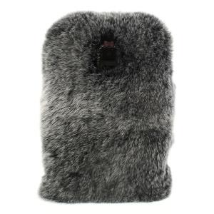 Rabbit Fur Coated PC + TPU Hybrid Shell Case for Samsung Galaxy S5 G900 - Black