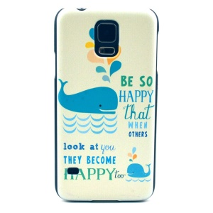 Two Dolphin Hard Shell Cover for Samsung Galaxy S5 G900