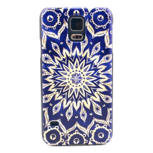 Mandala Flowers Pattern Hard Plastic Cover for Samsung Galaxy S5 G900