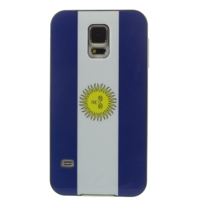 Protective PC + TPU Hybrid Case for Samsung Galaxy S5 G900 - Argentina Flag Pattern