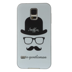 Protective PC + TPU Hybrid Cover for Samsung Galaxy S5 G900 - Gentleman Mustache Hat