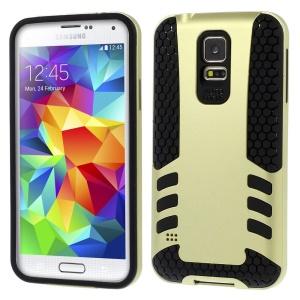 Gold for Samsung Galaxy S5 G900 Football Grain PC + TPU Hybrid Hard Shell