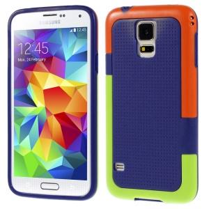 For Samsung Galaxy S5 G900 Dream Mesh PC + TPU Case Cover - Purple