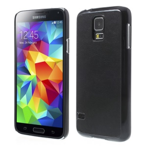 Black Crazy Horse Leather Coated Hard Case for Samsung Galaxy S5 G900