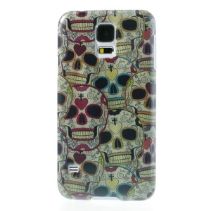 Colorful Skulls Glossy Hard Case for Samsung Galaxy S5 G900