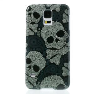 Cool Skull Heads Glossy Hard Shell Case for Samsung Galaxy S5 G900