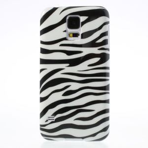 Stylish Zebra Stripes Glossy Hard Plastic Case for Samsung Galaxy S5 G900
