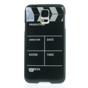 Clap Clapper Board Slate Movie Cut Glossy Hard Cover Shell for Samsung Galaxy S5 G900