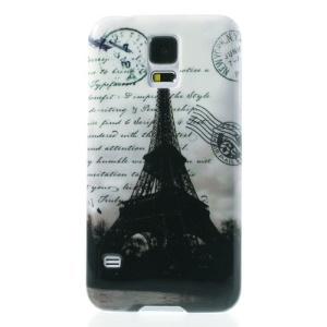 Famous Eiffel Tower Glossy Hard Case Accessory for Samsung Galaxy S5 G900