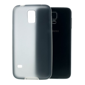 Translucent Matte TPU + Glossy PC Bumper Protective Case for Samsung Galaxy SV GS 5 G900 - Grey